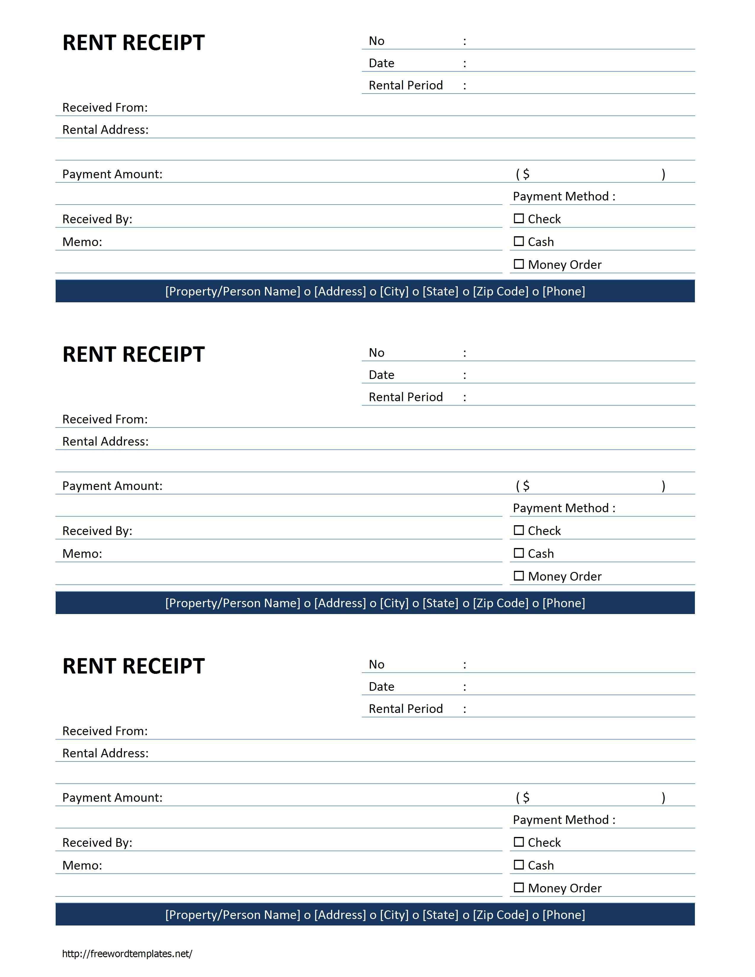 Rent Receipt Template | Free Microsoft Word Templates - Free Rent - Free Printable Rent Receipt