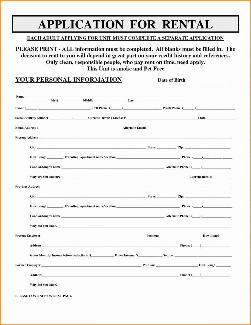 Rental Application Form Applying Luxury Free Printable Loan Of - Free Printable Rental Application
