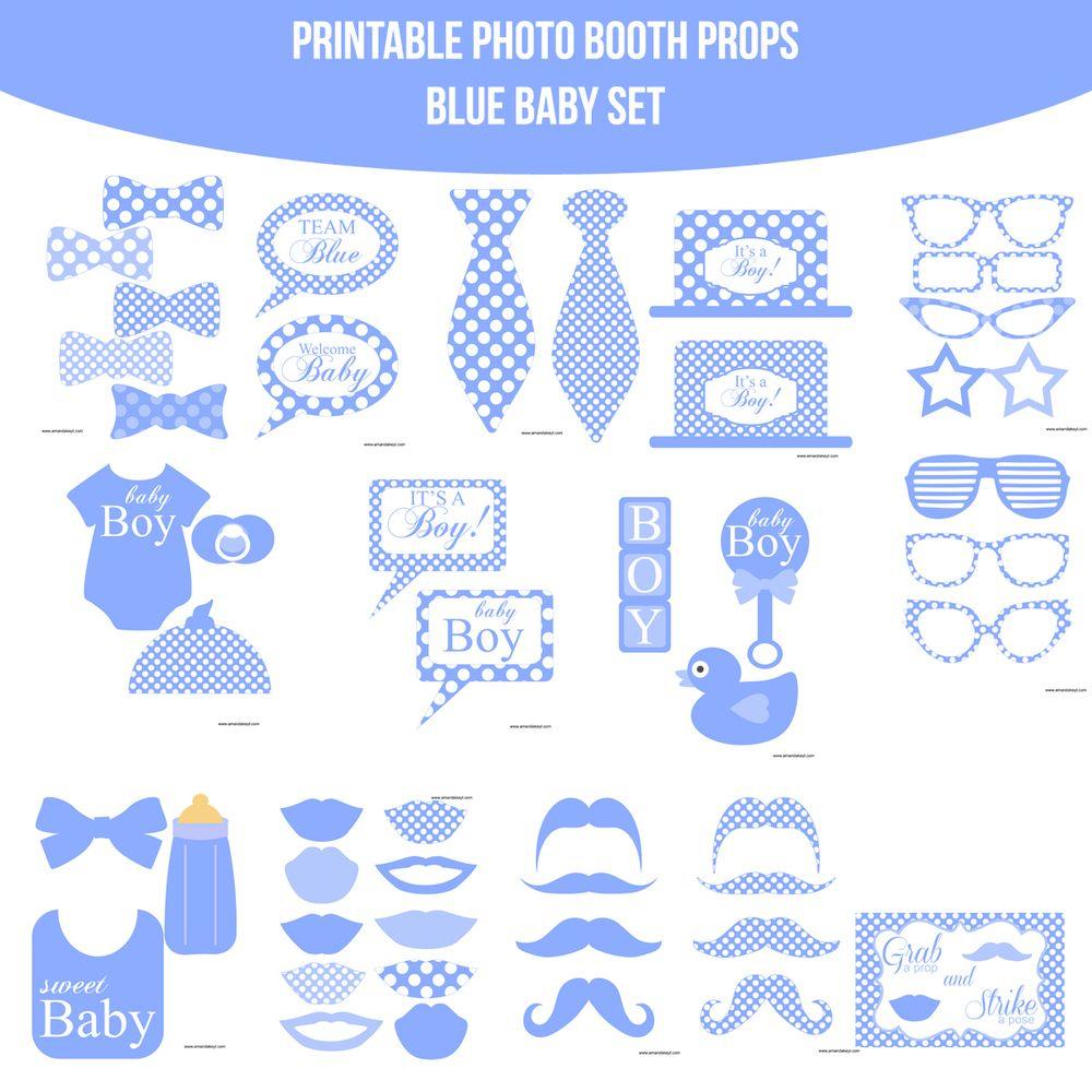 Résultats De Recherche D'images Pour « Free Printable Baby Shower - Free Printable Boy Baby Shower Photo Booth Props