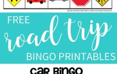 Free Printable Car Bingo