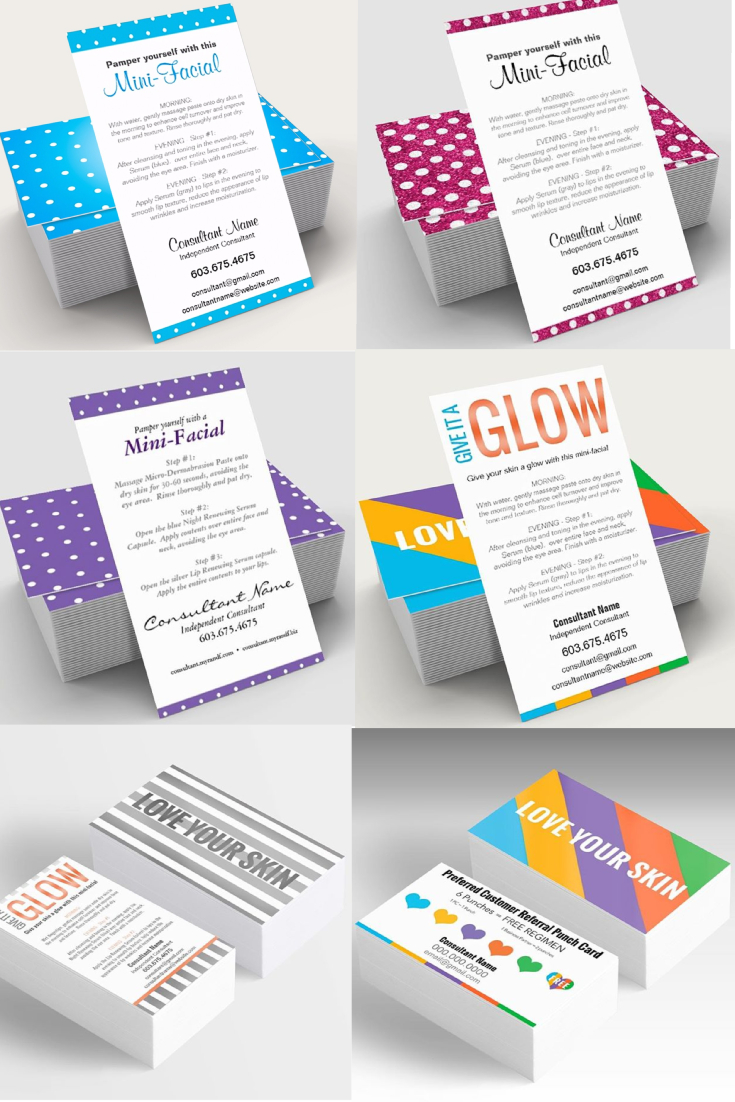 Rodan And Fields Mini-Facial Cards. They Are Completely Customizable - Rodan And Fields Mini Facial Instructions Printable Free