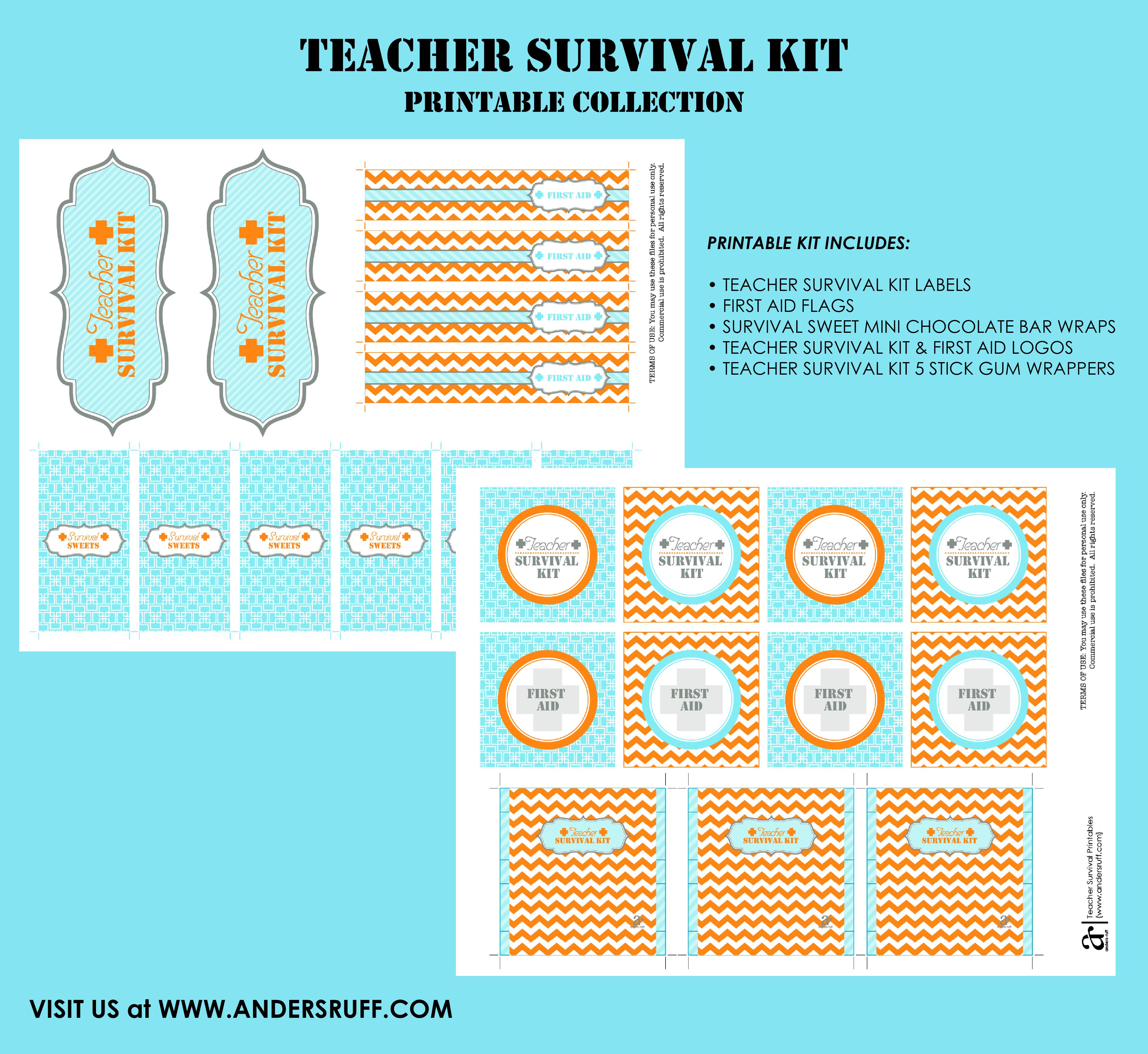 Ruff Draft: Diy Teacher Survival Kit - Anders Ruff Custom Designs, Llc - Teacher Survival Kit Free Printable