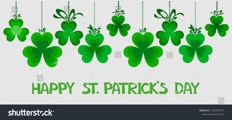 Saint Patricks Day Banner Design Print Stock Vector (Royalty Free - Free Printable St Patrick's Day Banner