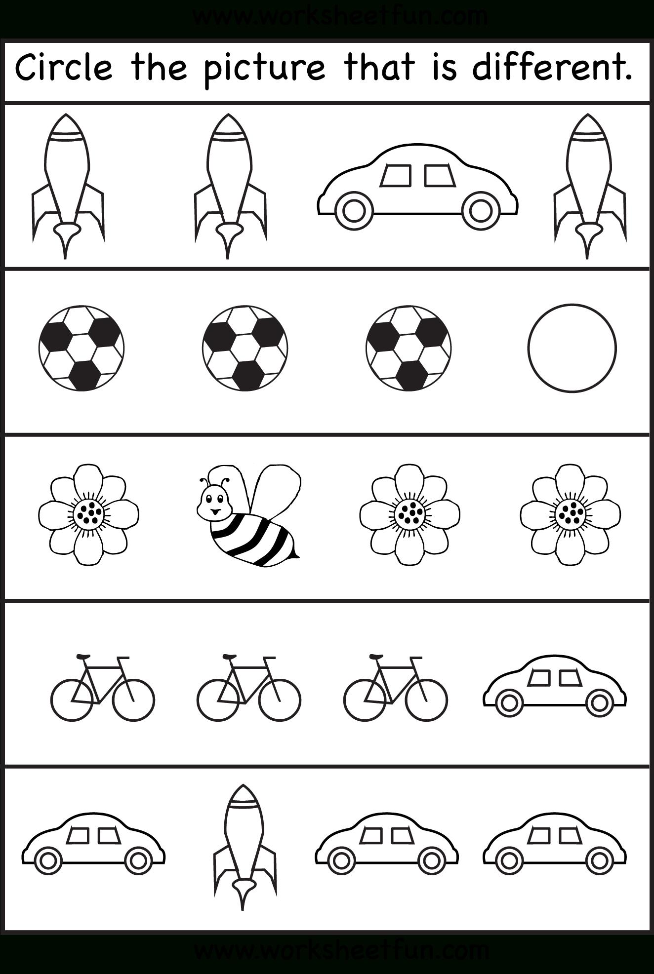 Same Or Different Worksheets For Toddler | Kids Worksheets Printable - Free Printable Toddler Worksheets