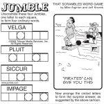 Sample Of Sunday Jumble   Tribune Content Agency   Stuff I Like   Free Printable Jumble Word Games