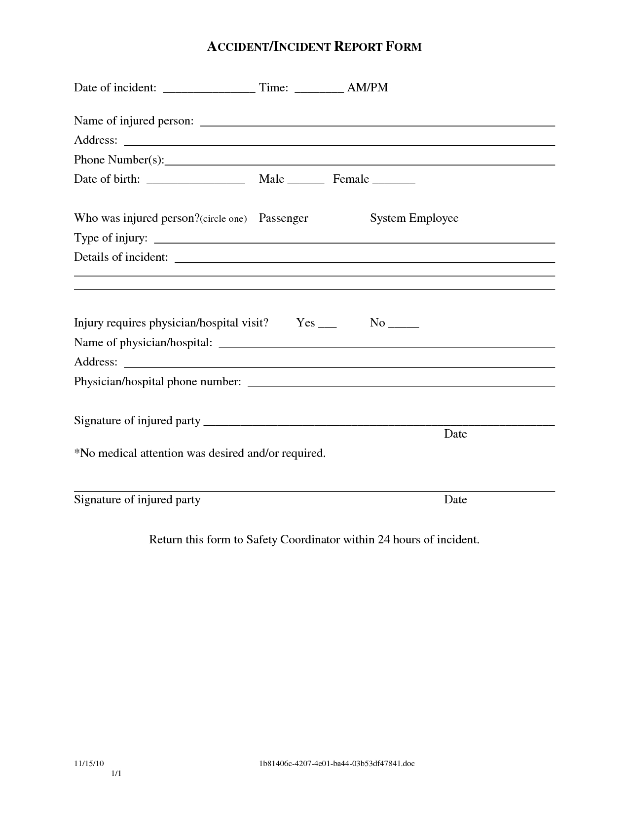 Sample Police Incident Report Template Images - Police Report - Free Printable Incident Report Form
