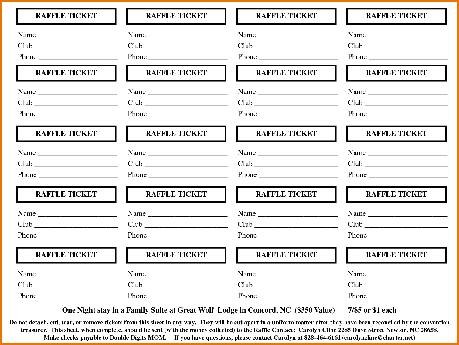 Sample Tickets Template Free Printable Blank Tickets Templates - Free Printable Raffle Ticket Template