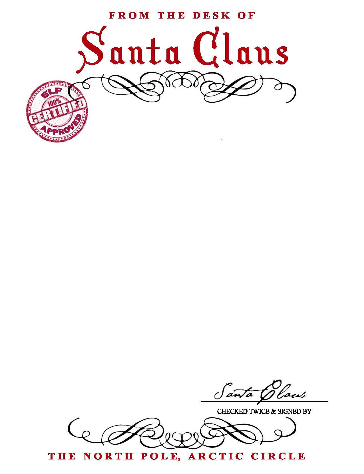 Santa Claus Letterhead.. Will Bring Lots Of Joy To Children - Free Printable Letter From Santa Template