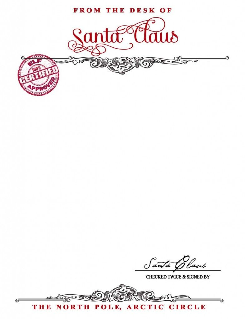 Santa Claus Stationary {Free Printable} - Your Golden Ticket Blog - North Pole Stationary Printable Free