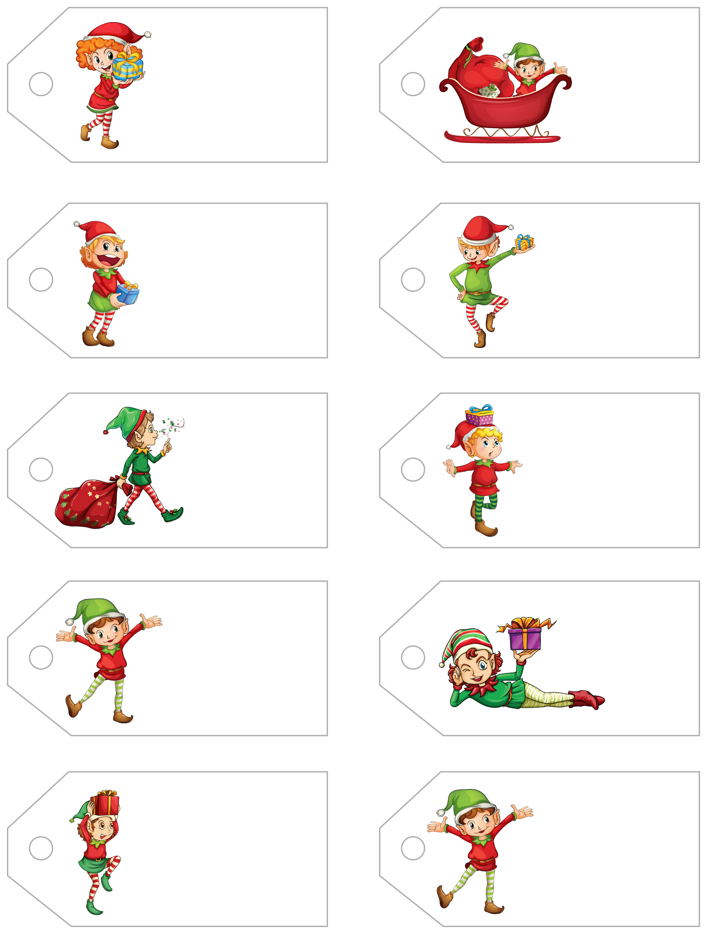 Santa's Little Gift To You! Free Printable Gift Tags And Labels - Free Printable Gift Tags