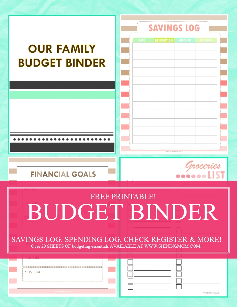 Save Money, Use Our Free Budget Binder! - Free Printable Family Budget