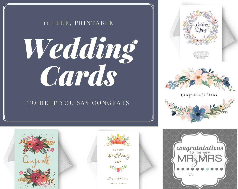 Say Congrats With A Free, Printable Wedding Card | Let's Have A - Free Printable Wedding Maps