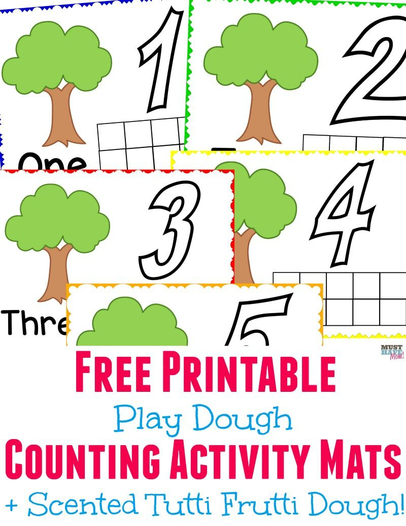 Scented Play Dough + Free Printable Playdough Mats! | Summer Boredom - Free Printable Playdough Mats