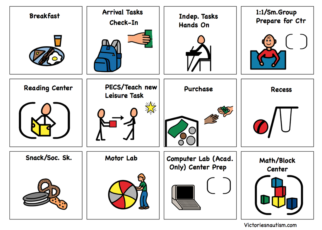 Schedule, Activity And Task Cards - Free Printable Picture Communication Symbols