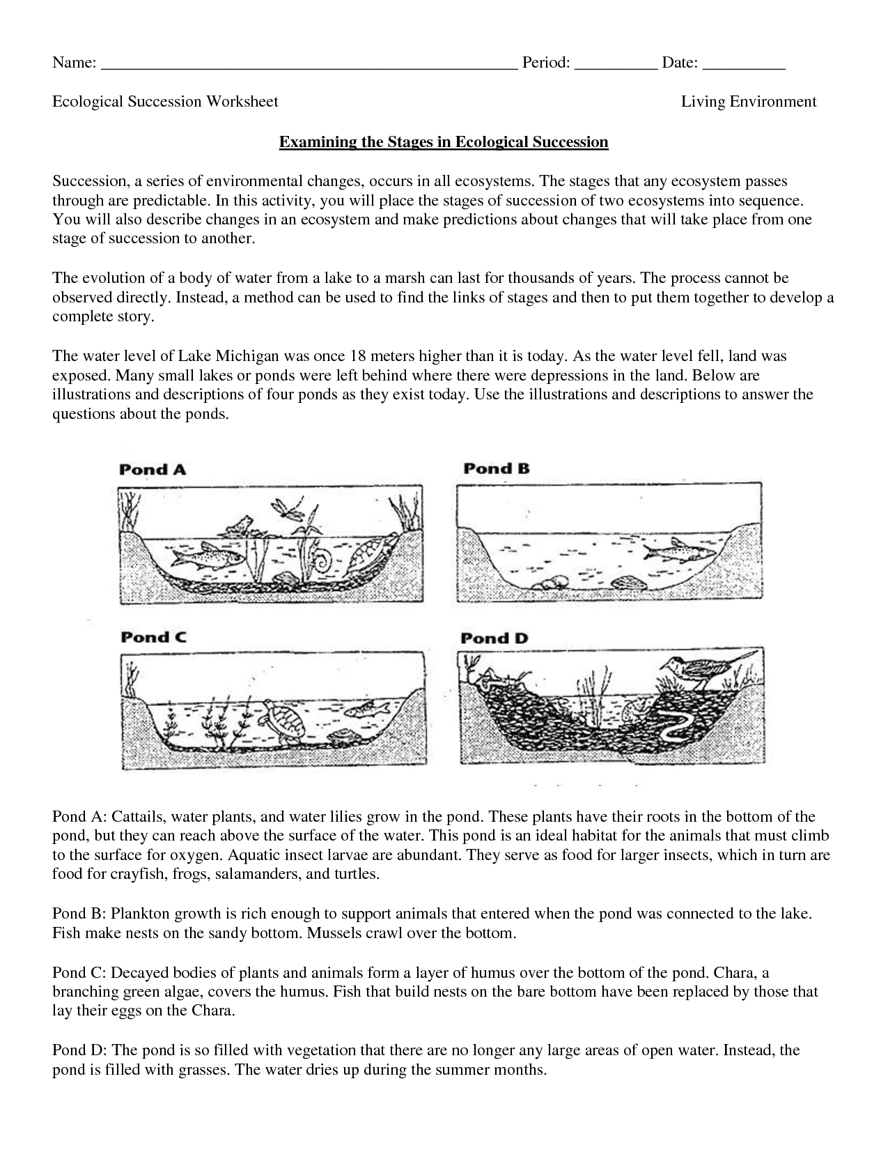 Science Worksheets Ecosystem | Biology Worksheet - Get Now Doc - Free Printable Biology Worksheets For High School