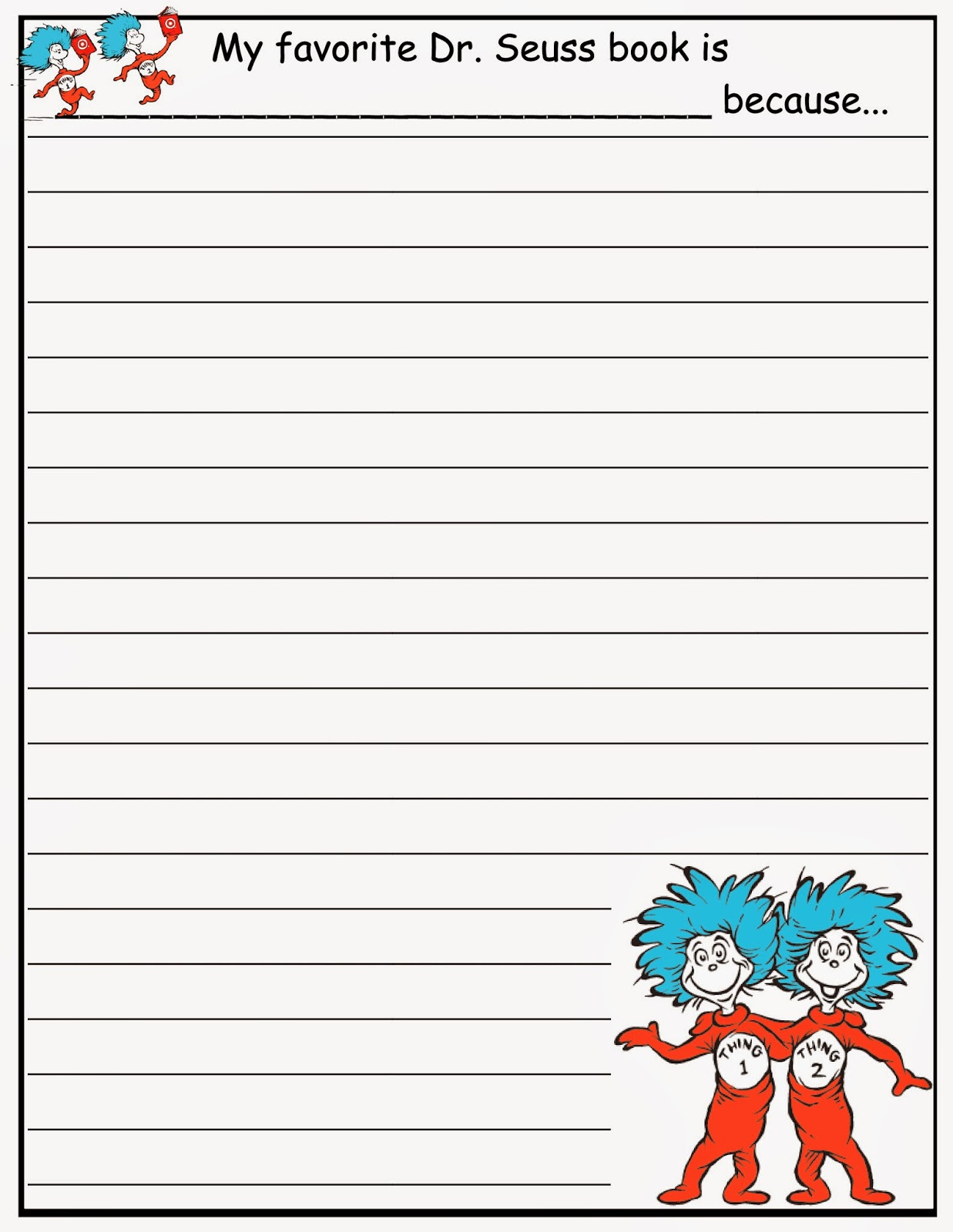 Scrap N Teach: Dr. Seuss Writing Papers (Free) - Dr Seuss Free Printable Templates
