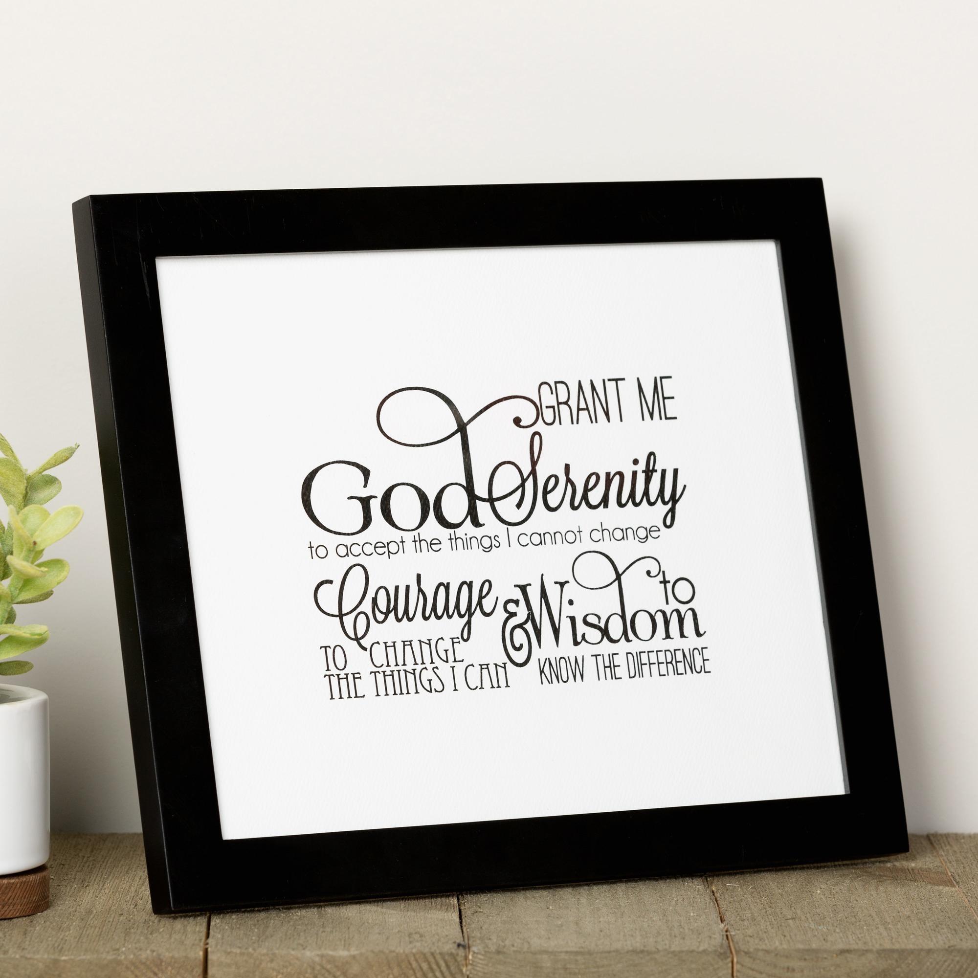 Scripted Serenity Prayer Framed Print | The Catholic Company - Free Printable Serenity Prayer