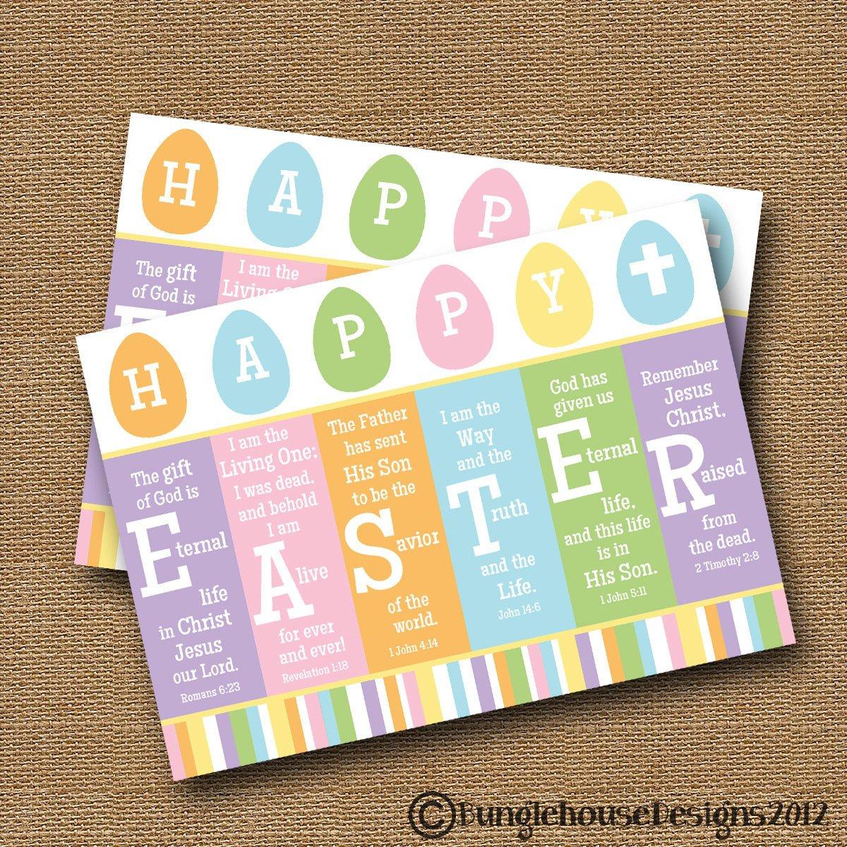 Scripture Easter Card Printable Easter Card Diy Printable   Etsy - Free Printable Religious Easter Bookmarks