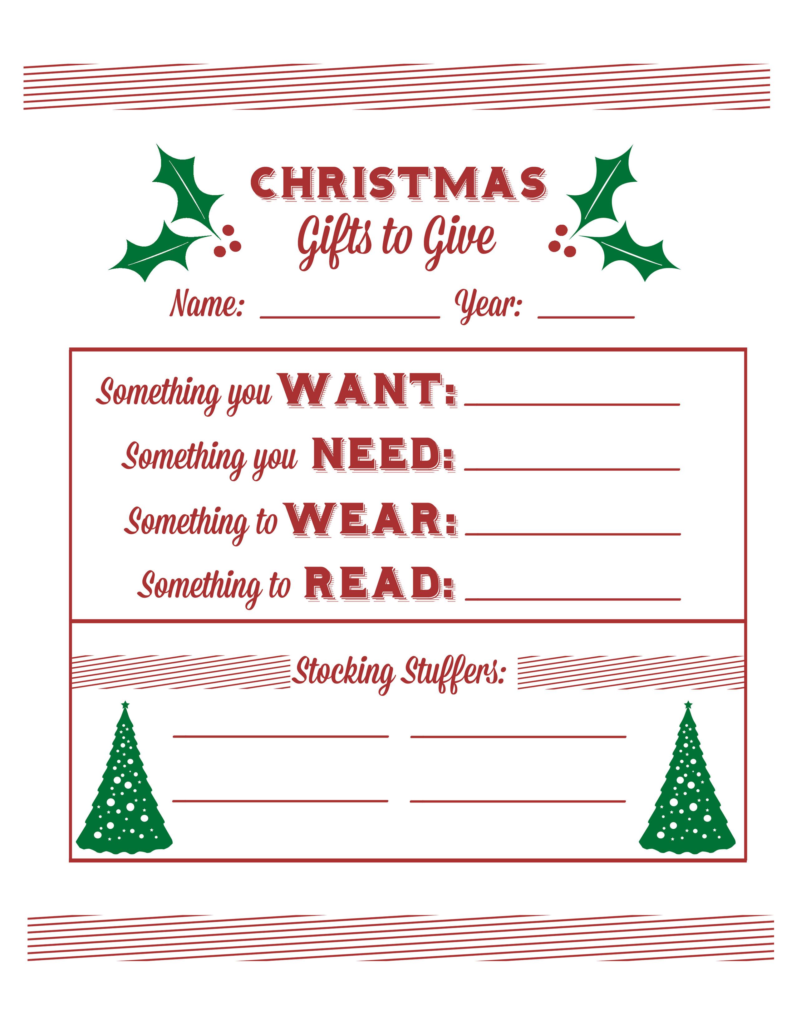 Secret Santa Gift Questionnaire   Santa's Wish List Baby  Free - Free Printable Christmas List Maker
