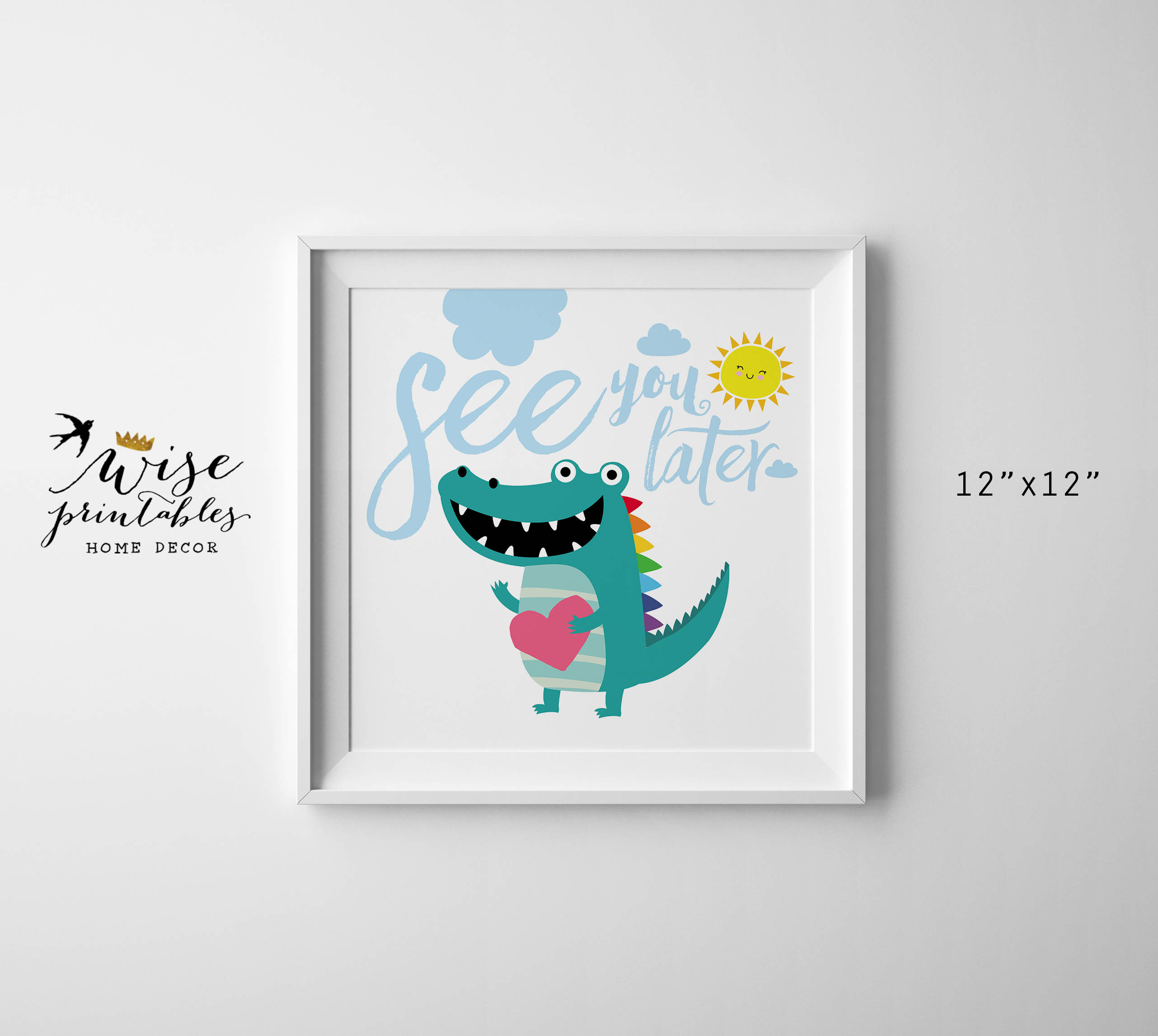 See You Later Alligator Nursery Wall Art Crocodile Digital | Etsy - See You Later Alligator Free Printable