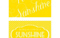 Send A Box Of Sunshine {Free Printables} | Family Goals/themes | Box – Box Of Sunshine Free Printable