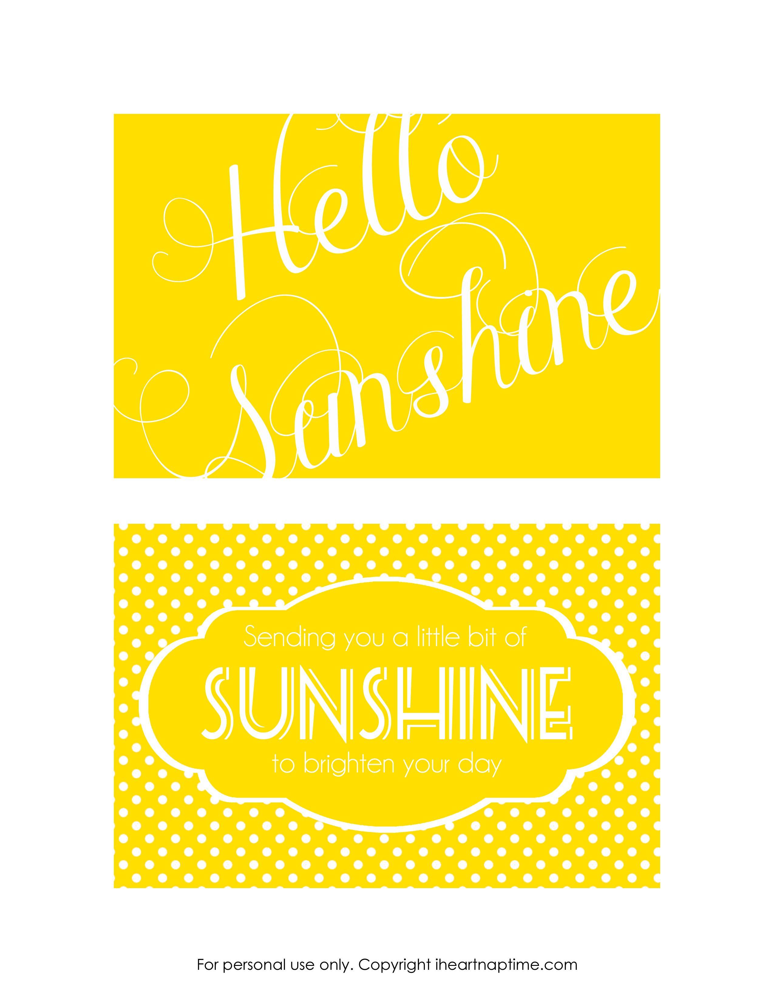 Send A Box Of Sunshine {Free Printables}   Family Goals/themes   Box - Box Of Sunshine Free Printable