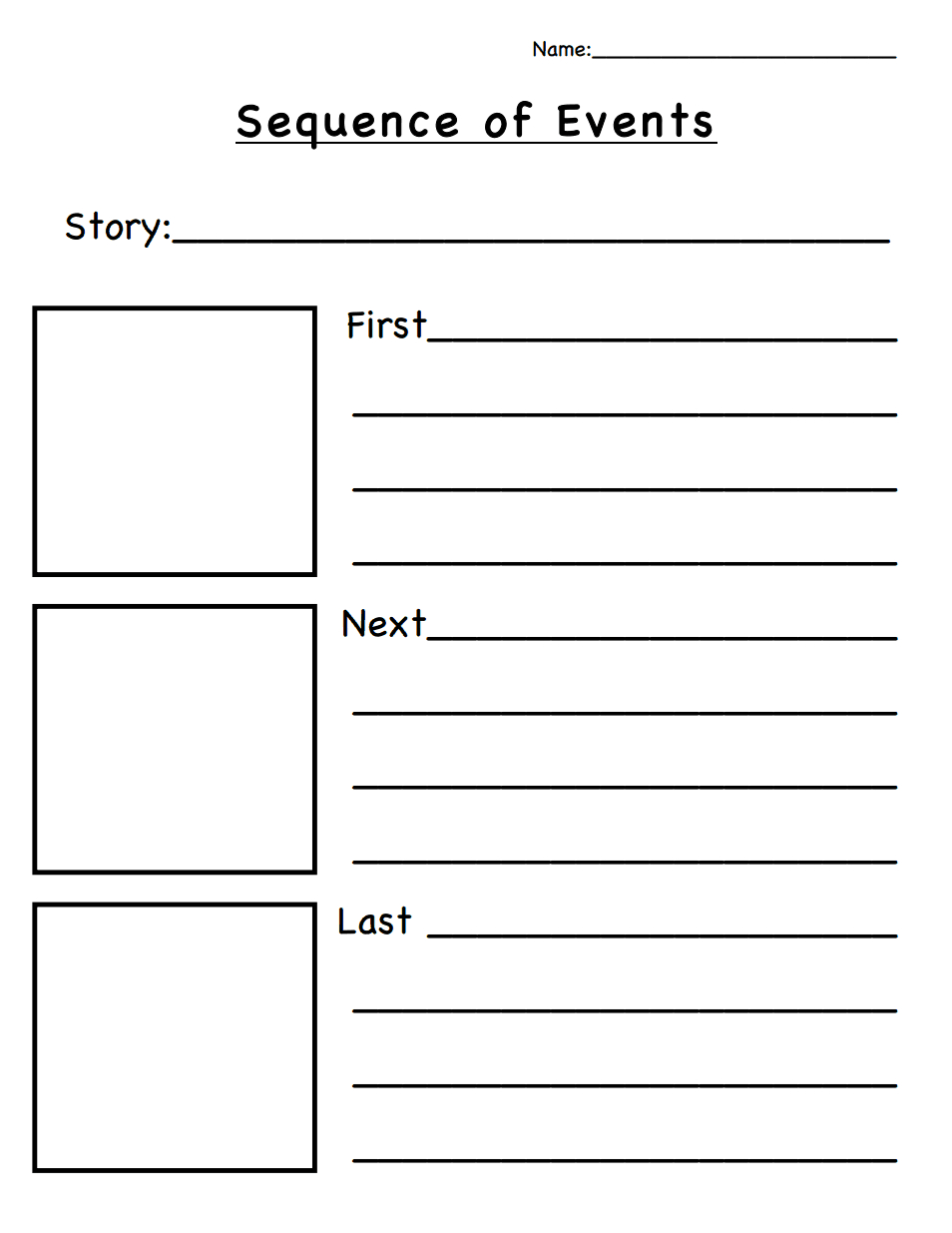 Sequence Of Events.pdf | Classroom Ideas | Sequence Of Events, Story - Free Printable Sequence Of Events Graphic Organizer