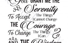 Serenity Prayer Digital Vector Files, Instant Download For Print And – Free Printable Serenity Prayer