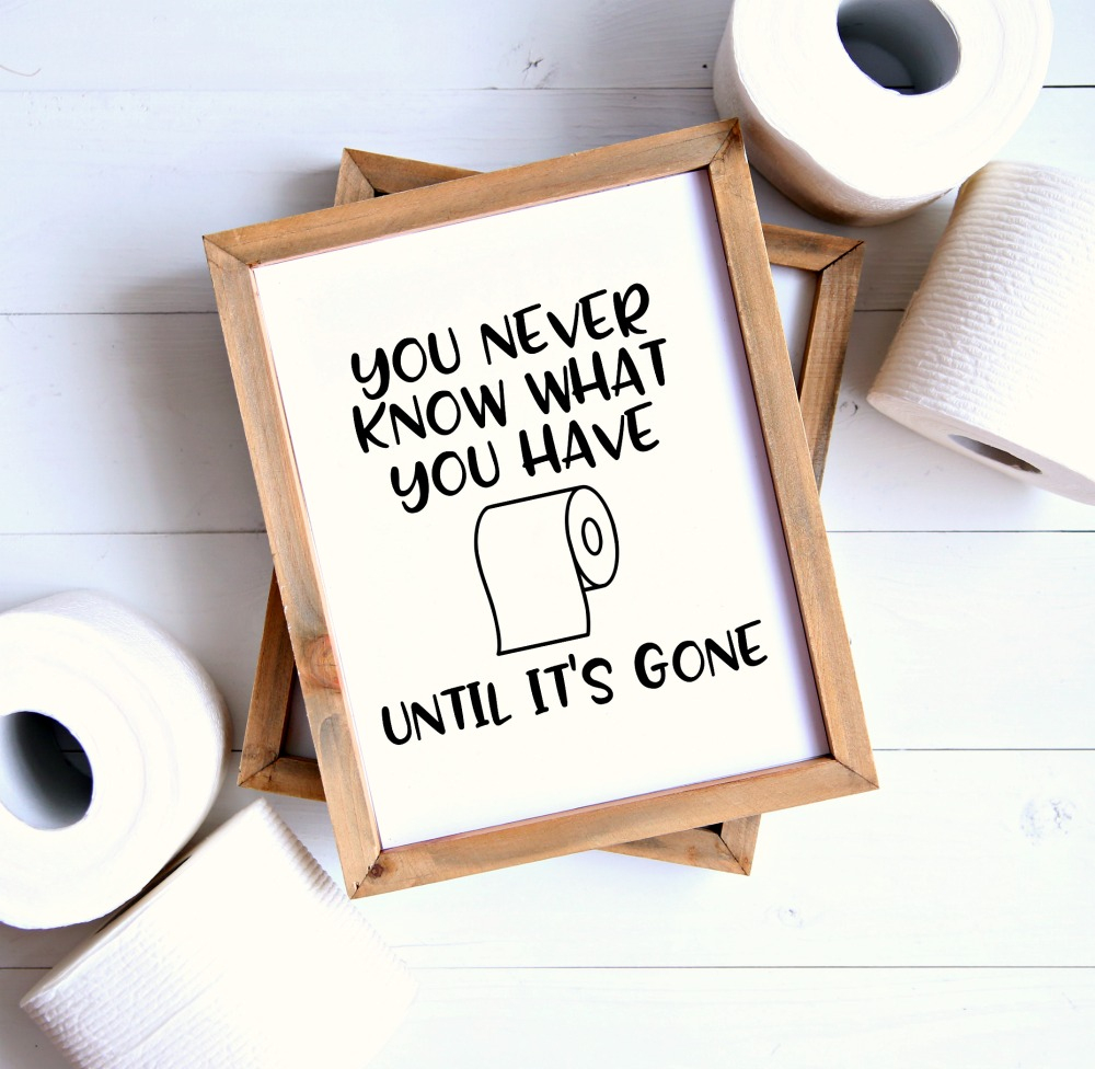 Set Of 4 Printable Bathroom Signs - Happy-Go-Lucky - Free Printable Bathroom Signs