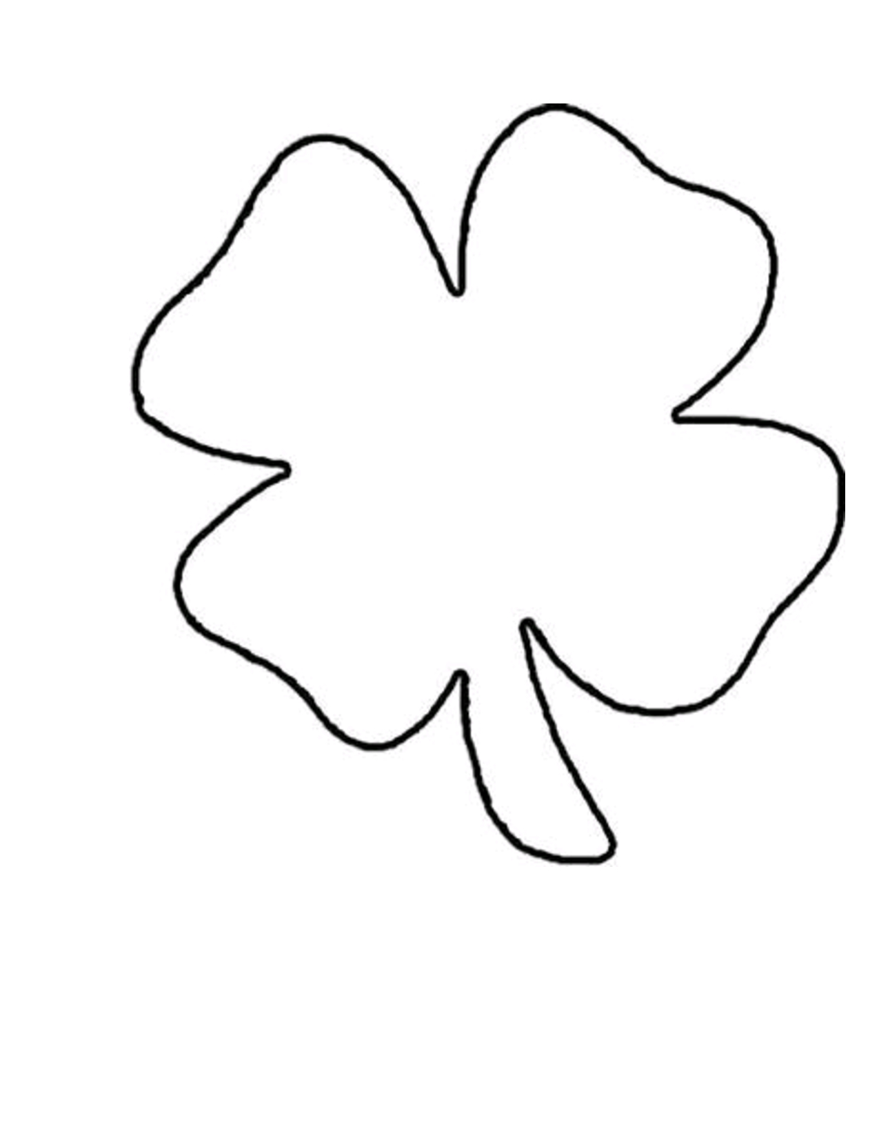 Shamrock Templates Printable | Shamrock Template | Crafts | Shamrock - Four Leaf Clover Template Printable Free
