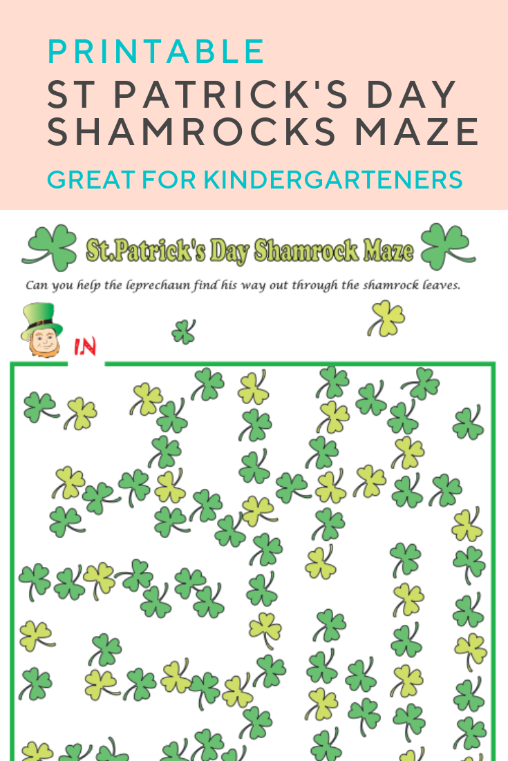 Shamrocks Maze | St. Patrick's Day | Pinterest | Maze Worksheet - Free Printable St Patrick's Day Mazes