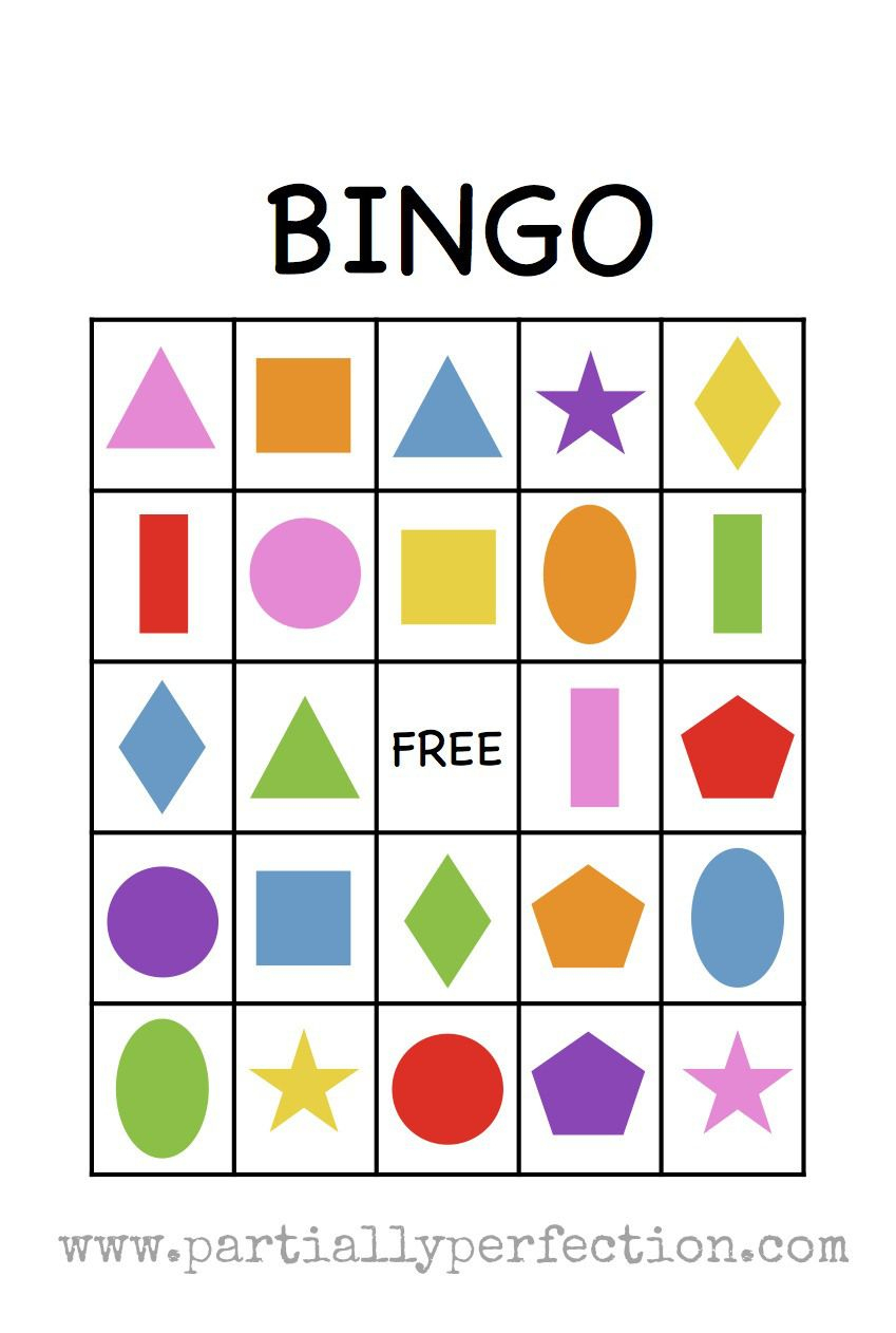 Shape Bingo Card - Free Printable - I'm Going To Use This To Teach - 3D Shape Bingo Free Printable