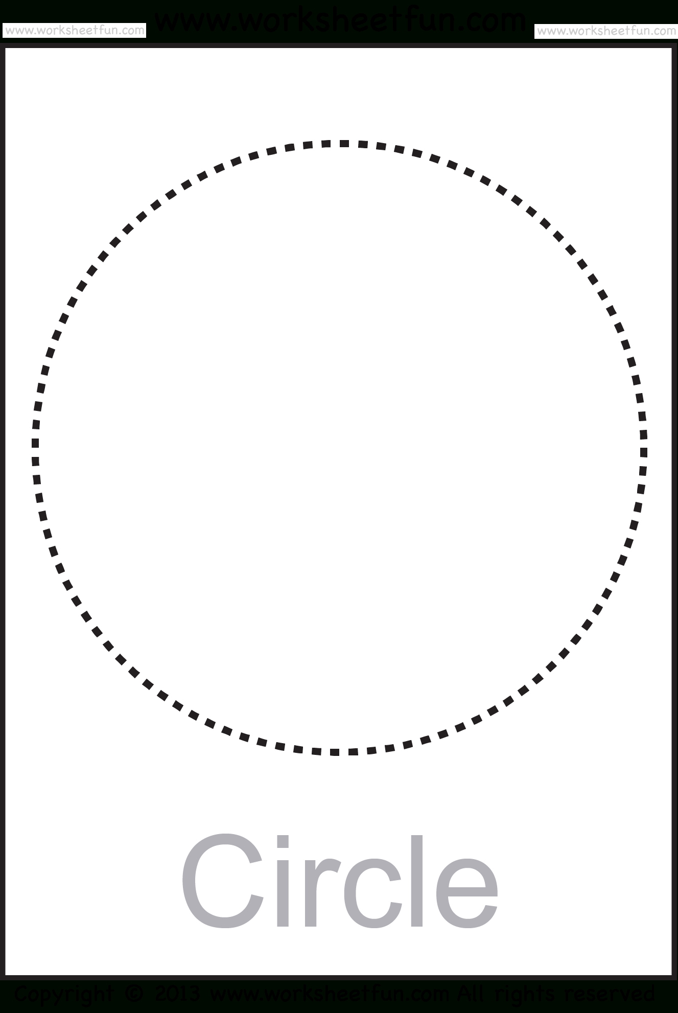 Shapes – Circle, Triangle, Square, Rectangle, Rhombus, Oval – Six - Large Printable Shapes Free