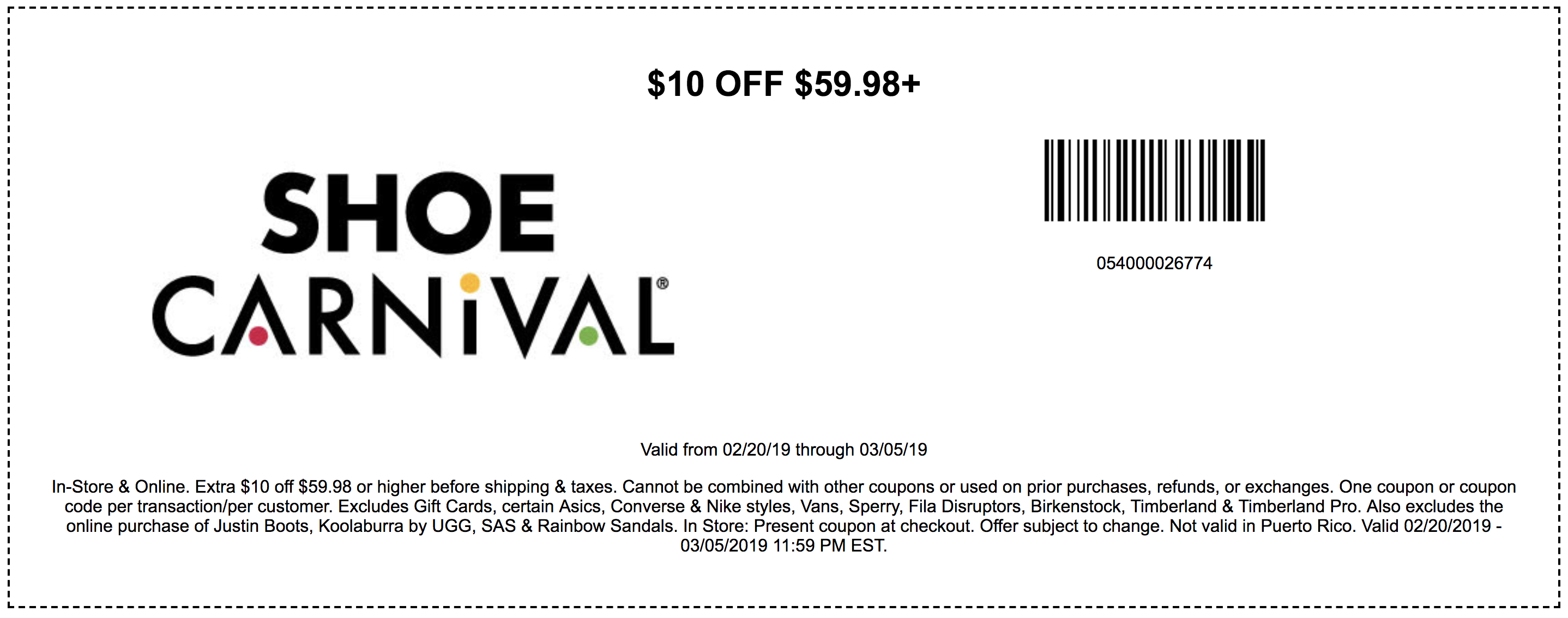 Shoe Carnival Coupons In Store (Printable Coupons) - 2019 - Free Printable Footlocker Coupons