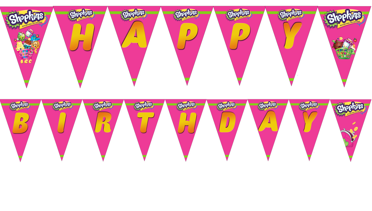 Shopkins Birthday Banner Printable 1 » Happy Birthday World - Shopkins Banner Printable Free
