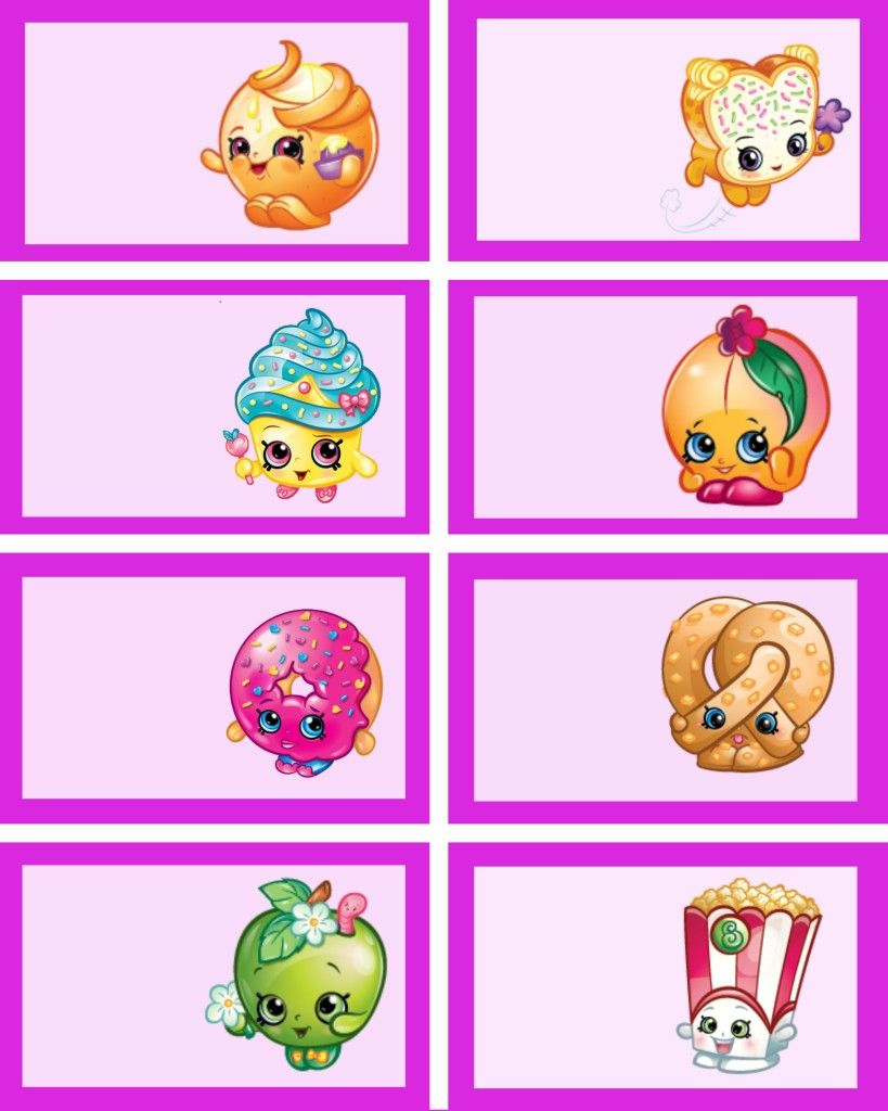 Shopkins Food Labels And Shopkins Party Printables Via Mandy's Party - Shopkins Banner Printable Free