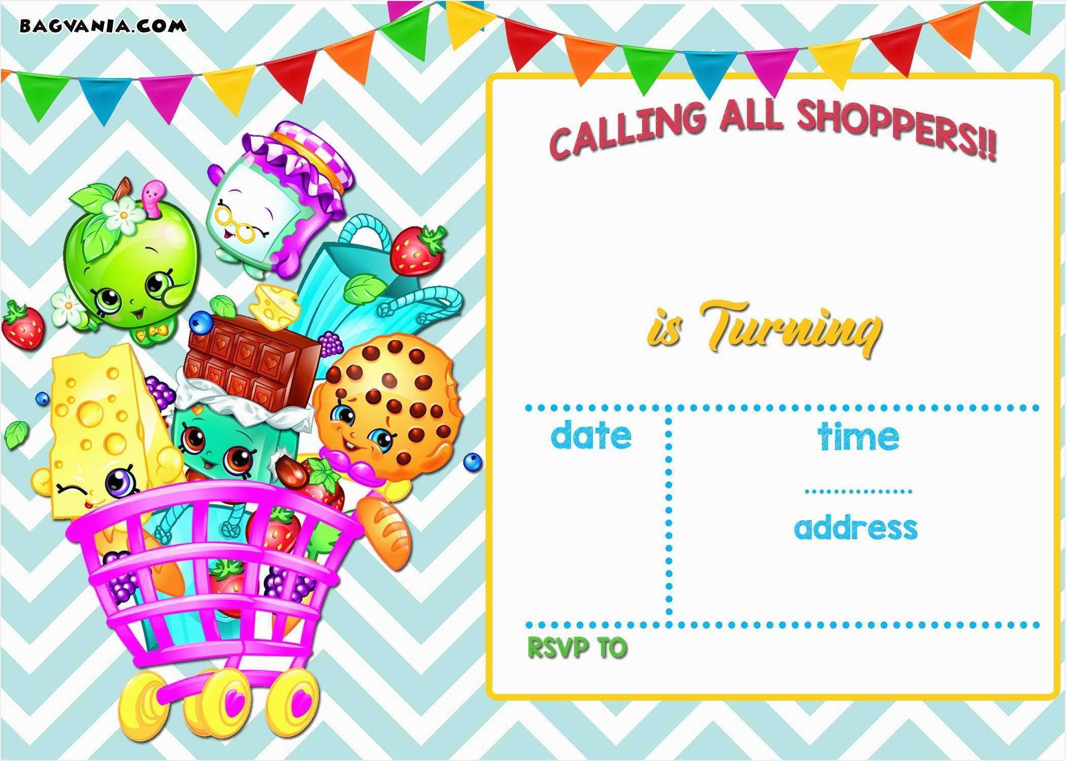 Shopkins Printable Invitations – Fly-Bies.se - Free Printable Shopkins Invitations