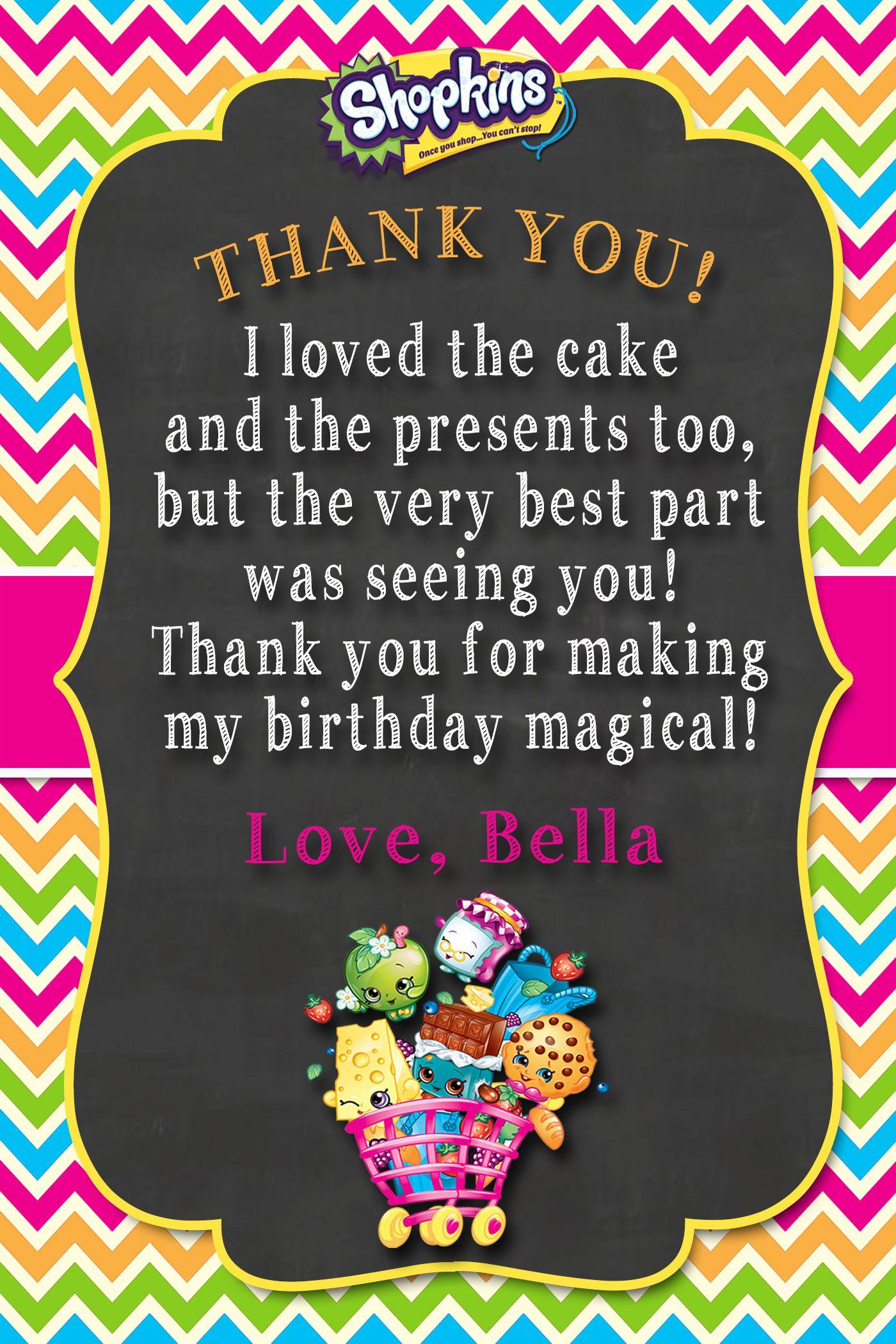 Shopkins Thank You Card   Shopkins 4 My Bianca! In 2019   Shopkins - Free Printable Shopkins Thank You Cards