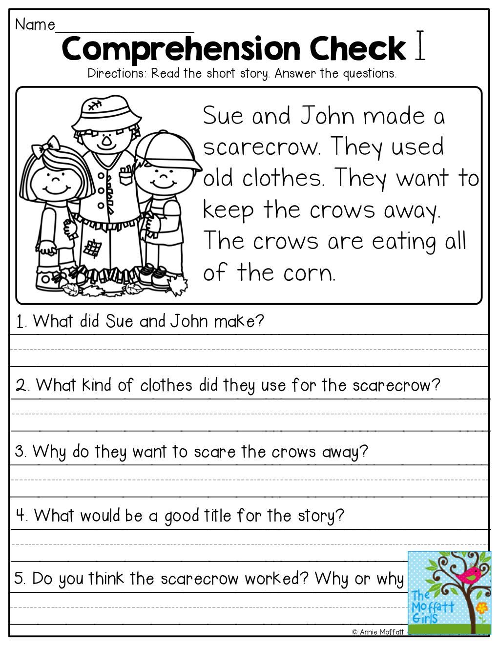 Short Stories With Comprehension Questions! | Jassiah | Pinterest - Free Printable Short Stories For Grade 3