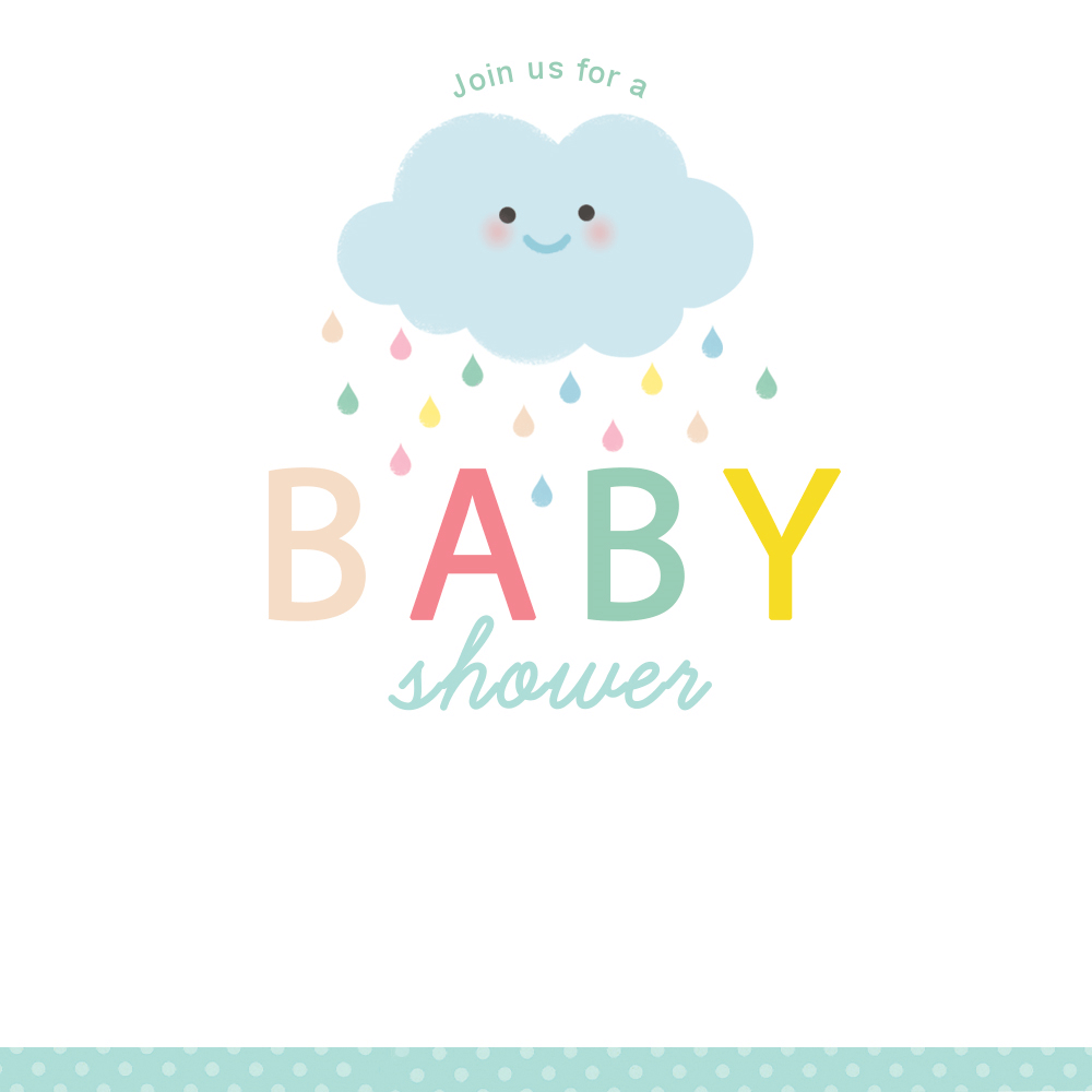 Shower Cloud - Free Printable Baby Shower Invitation Template - Free Printable Baby Sprinkle Invitations