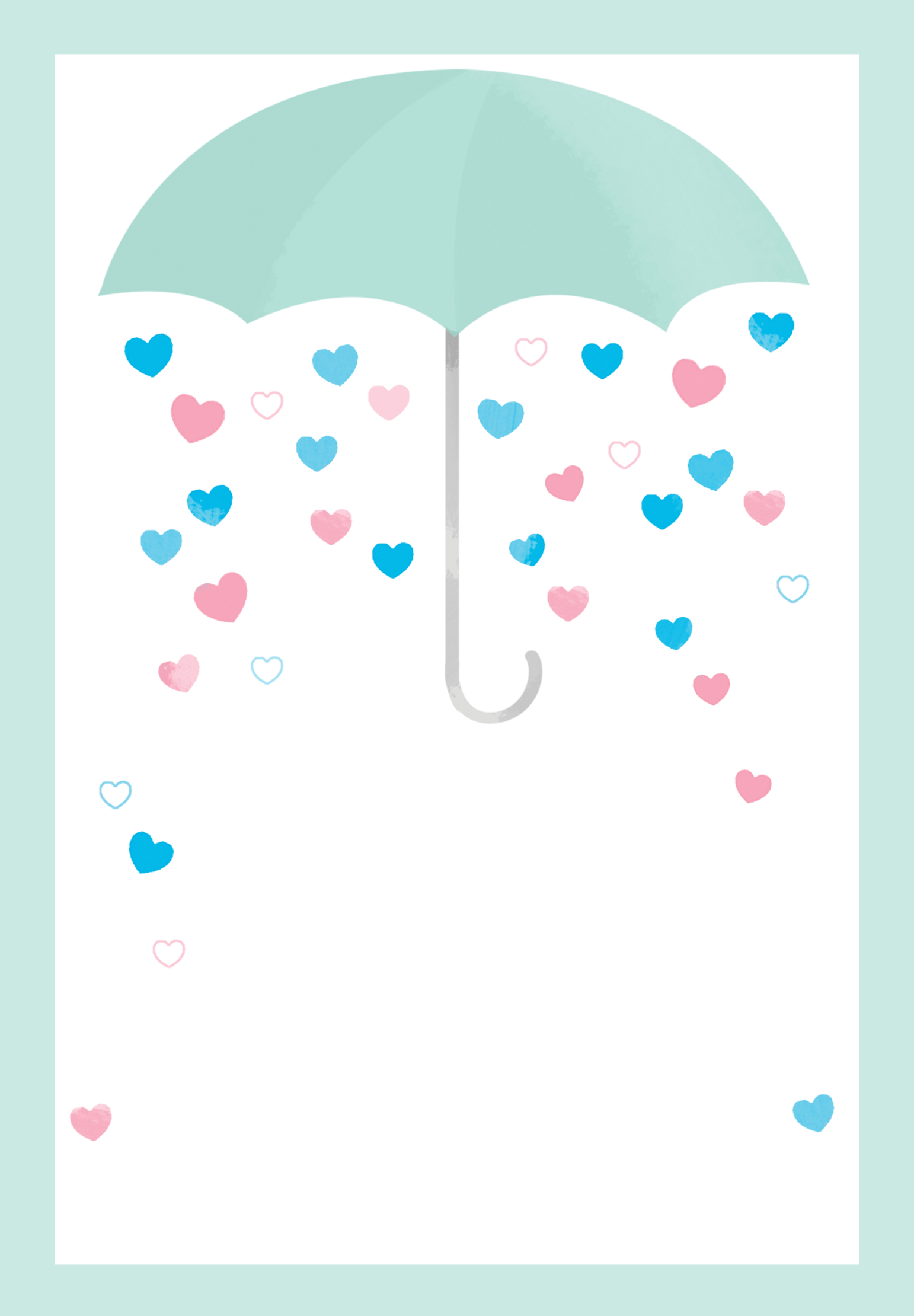 Shower With Love - Free Printable Baby Shower Invitation Template - Free Printable Baby Registry Cards