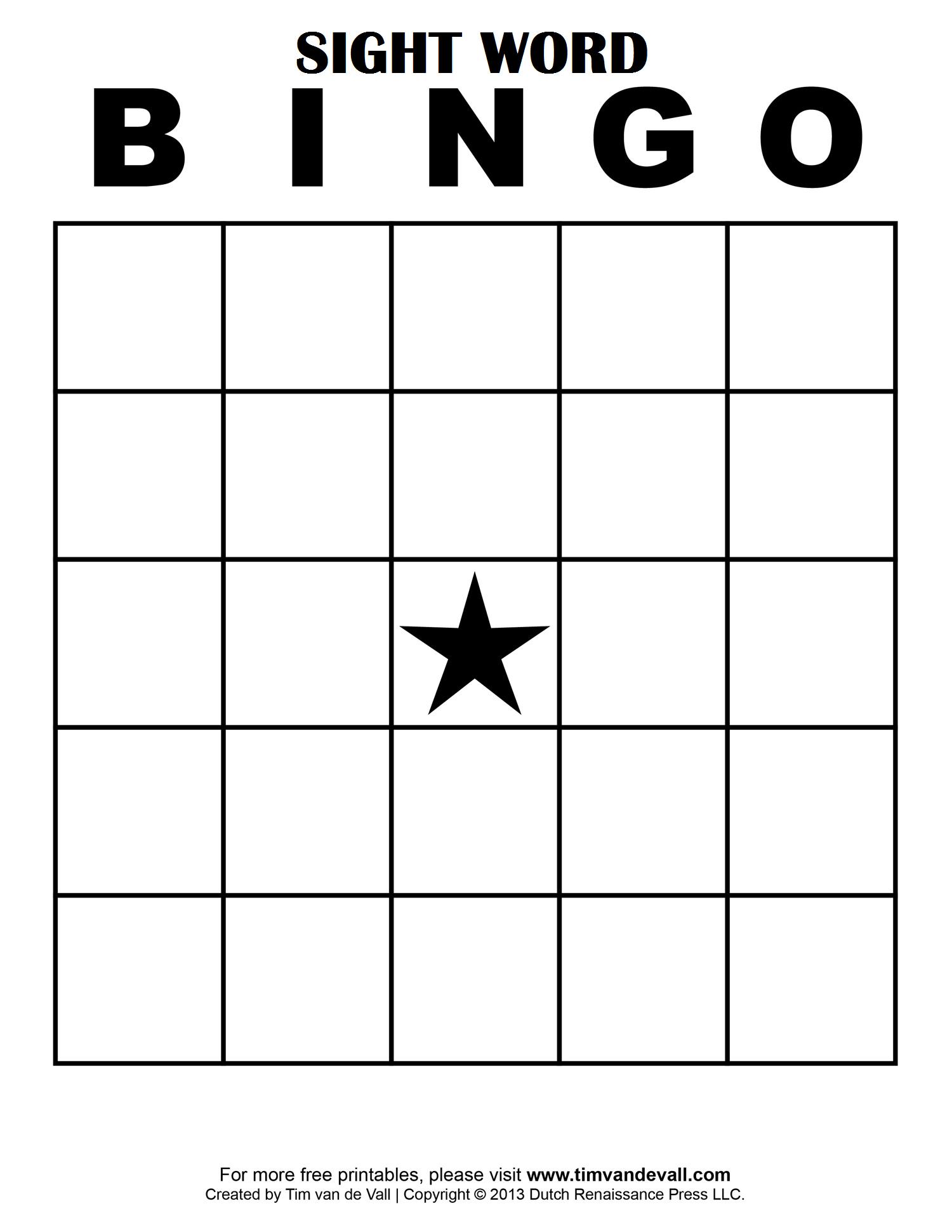 Sight Word Bingo … | School Classroom Ideas | Pinte… - Free Printable Bingo Cards With Numbers