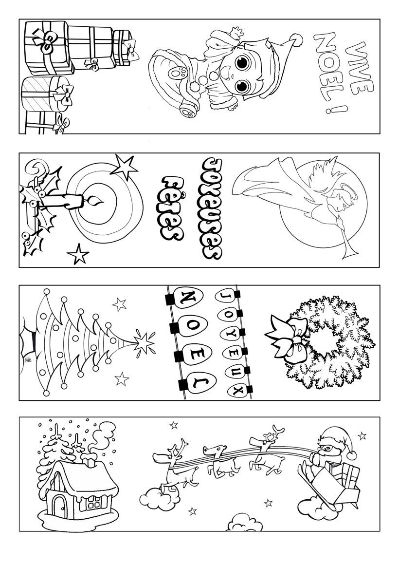 Signets-Noel-A-Colorier   Coloring Page   Pinterest   Bookmarks Kids - Free Printable Christmas Bookmarks To Color