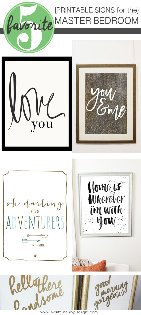 Signs For The Master Bedroom | Free Printables | Home Decor, Master - Free Printable Bedroom Door Signs