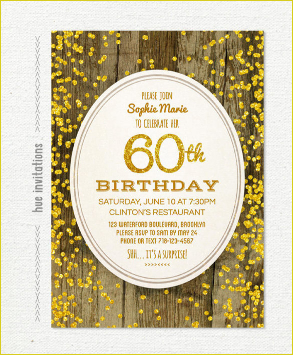 Simple 60Th Birthday Invitation To Create Your Own Free Printable - Free Printable Surprise 60Th Birthday Invitations