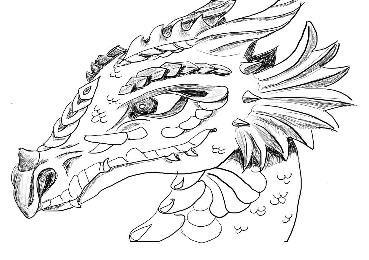 Simple Chinese Dragon Coloring Pages   Printable Coloring Page For Kids - Free Printable Chinese Dragon Coloring Pages