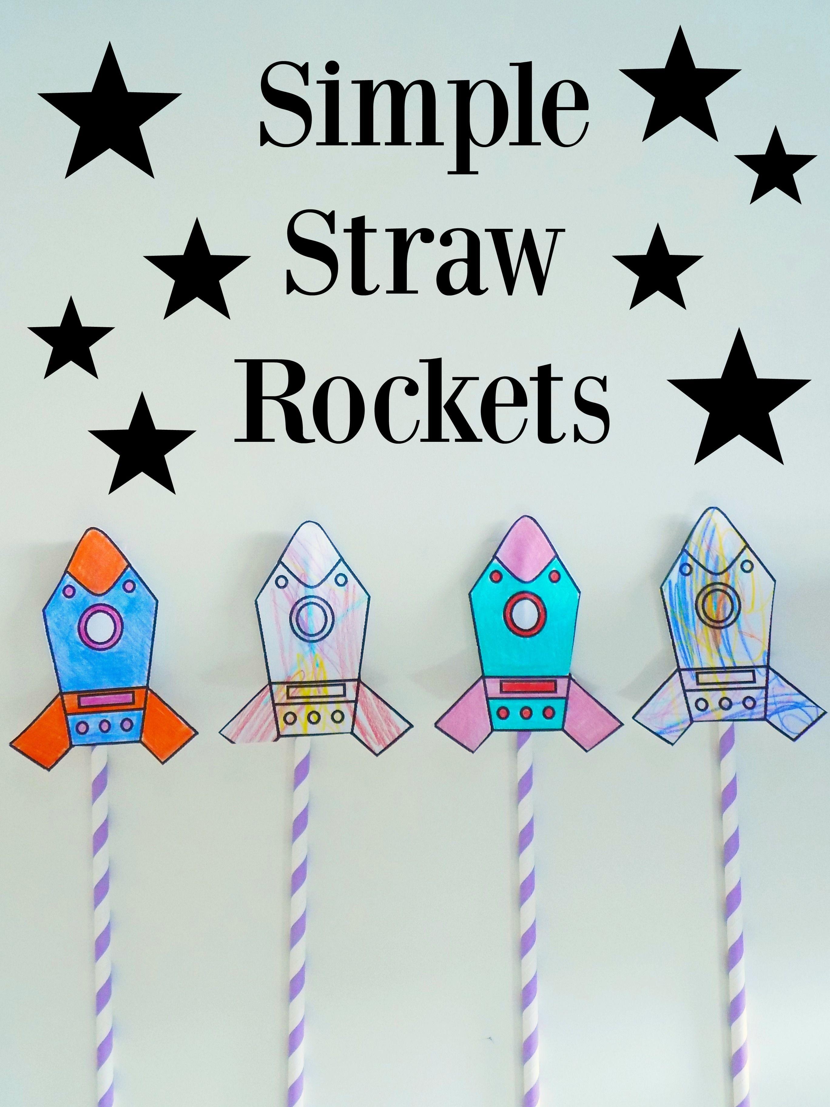 Simple Straw Rockets + Free Printable! | Preschool Education - Free Printable Crafts For Preschoolers