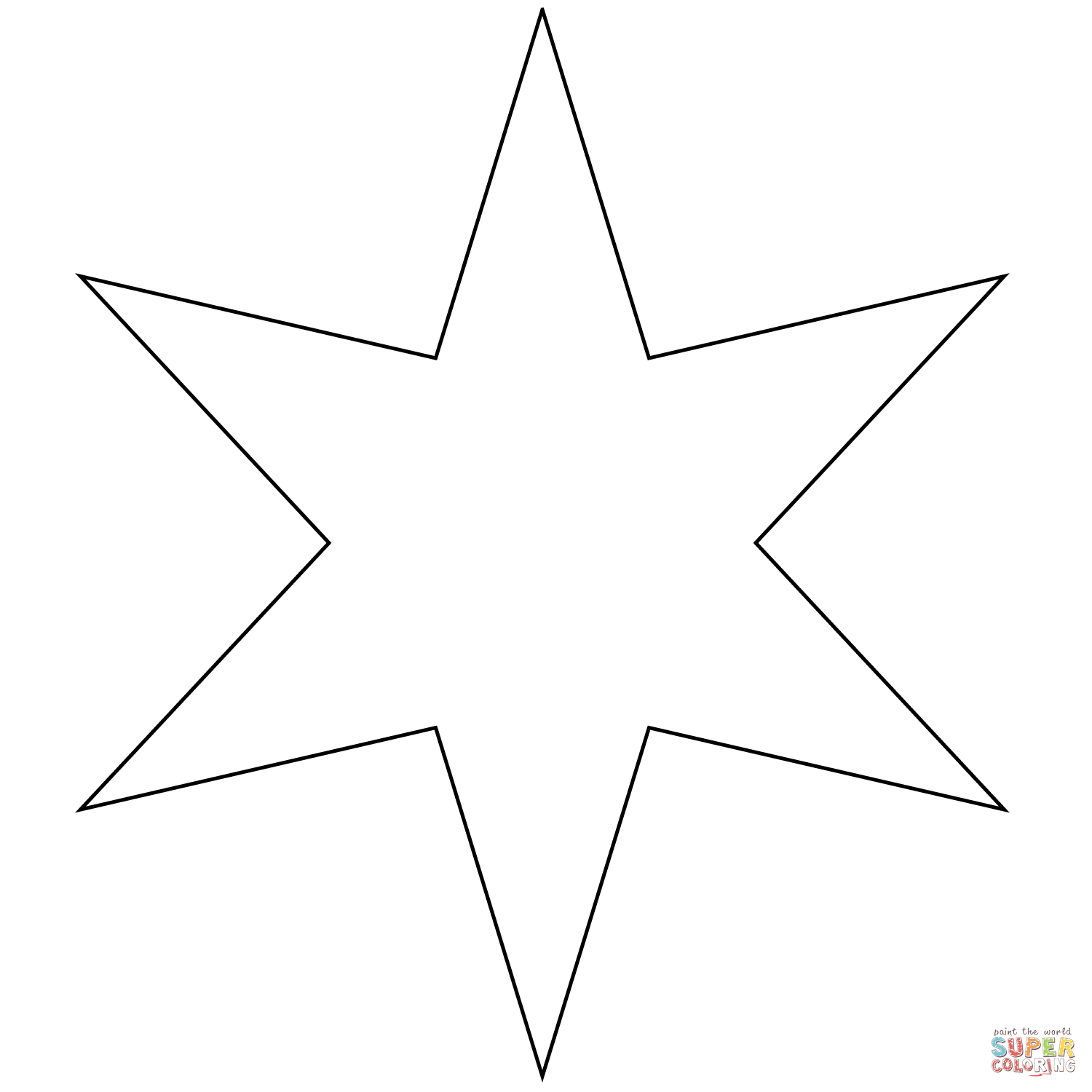 Six Pointed Star Coloring Page | Free Printable Coloring Pages - Star Of David Template Free Printable