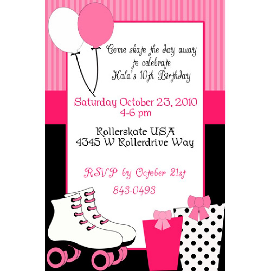 Skating Party Invitations Including Exquisite Party Invitation - Free Printable Roller Skate Template