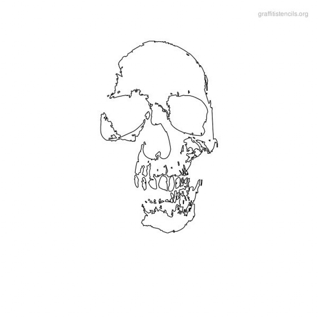Skull Graffiti Stencils To Print | Graffiti Stencils Org In Free - Free Printable Airbrush Stencils